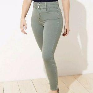 New Loft Womans High Rise Slim Pocket Skinny Jeans